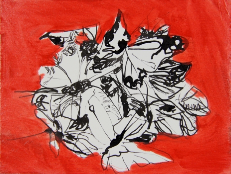 Nicole Ouellette Paintings Ink and oil paint on paper