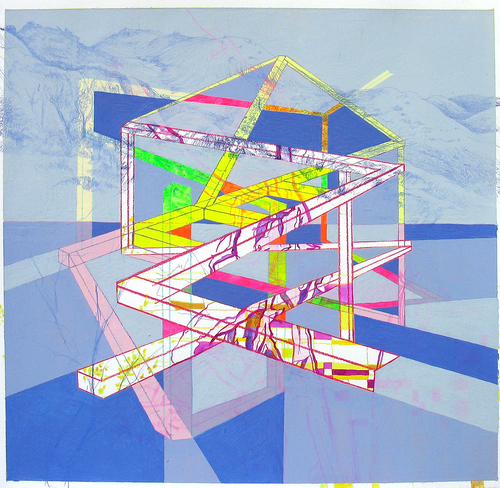 "All Drawings ""Study (Blue Structure)"""