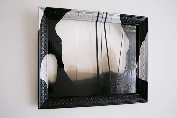 #OLIVIEPONCE  Framed Plexiglass Alkyd enamel on plexiglas