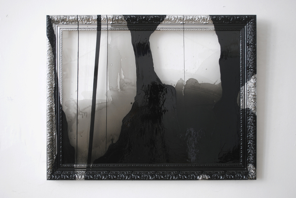 #OLIVIEPONCE  Framed Plexiglass Alkyd enamel on framed plexiglas