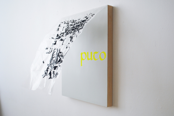 #OLIVIEPONCE  Words Mix media on wood panel
