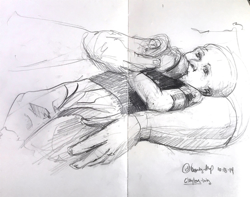Jenniffer Omaitz Figurative Sketchbook Pages