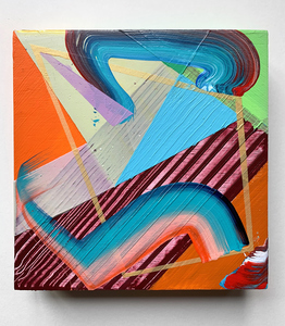 Jenniffer Omaitz Studio Relief Series (studio support sale) Acrylic on panel