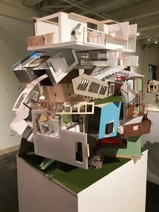 Jenniffer Omaitz Stacked Structures Mixed Media Assemblage