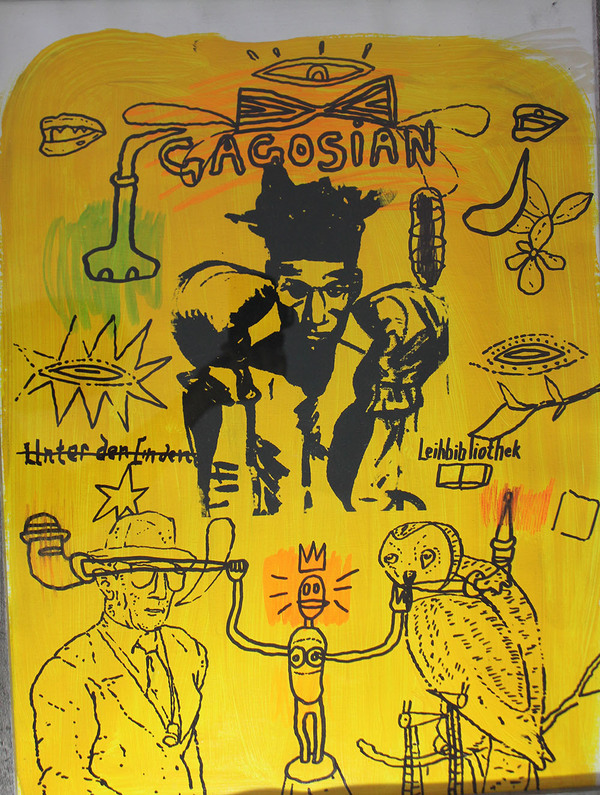 Palette Online ArtSpace Chris Lee: R.I.P. SAMO and Other Stories, The Semiotics of Basquiat Mixed media on vellum