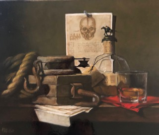 Still Lifes by Marybeth Hucker    5/22-6/15/20 DaVinci, Death, and Taxes
