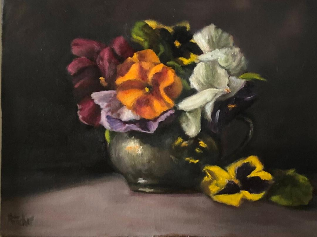 Still Lifes by Marybeth Hucker    5/22-6/15/20 Pansies