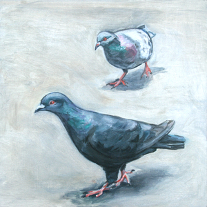 "Palette ArtSpace ""For The Birds"" Group Show- July 5 - Aug 26, 2017 Oil on panel"
