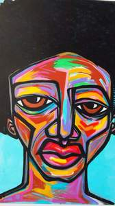 Palette Online ArtSpace Kortez: Faces - (exclusive representation) Acrylic on canvas