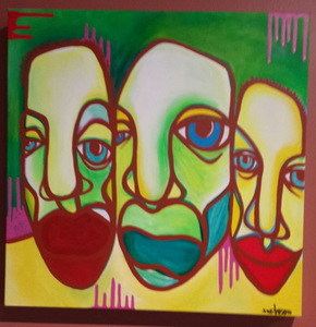 Palette Online ArtSpace Double Trouble: Joseph Borzotta and Kortez Acrylic on canvas