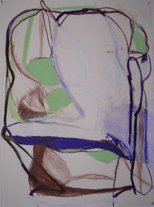 Pam Cardwell Drawing - 2008 - 2011 oil stick, ink, crayon on paper