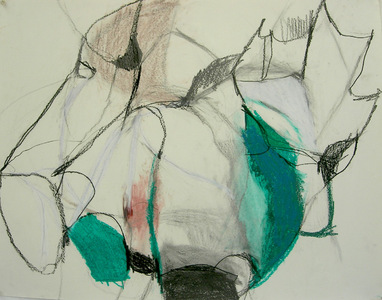 Pam Cardwell Drawing - 2002 - 2007 graphite, oil pastel on paper