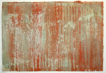 Older Works on paper waterwall orange