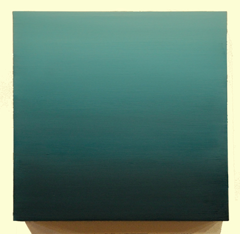 paintings teal fade