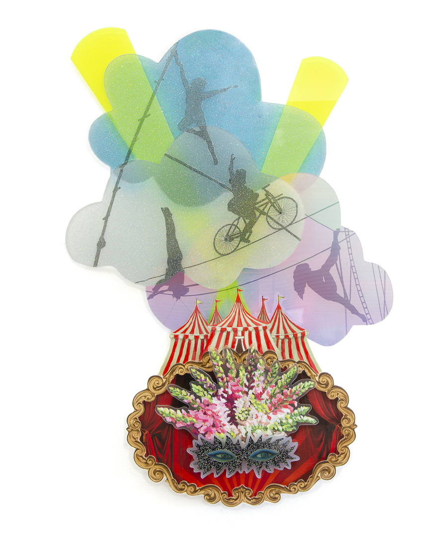 Pamela Joseph MAQUETTES FOR MASK HEADDRESSES 2019-2021 Acrylic and mixed media on plexiglass