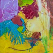 PAMELA STODDART Daisy Series Acrylic / Ink on Canvas