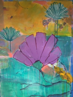 PAMELA STODDART Daisy Series Acrylic/Ink on paper