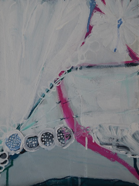 PAMELA STODDART Icy Aqua Series Acrylic/Ink/Oil Pastel on paper