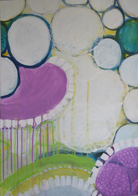 PAMELA STODDART Circle Series Acrylic/Ink/Oil Pastel on Paper
