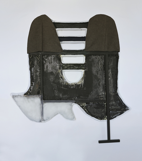 EunJung Park Recent Work wood, fabric, thread, fiberglass, cardboard, polyester fiber fill, expanding foam, black gesso