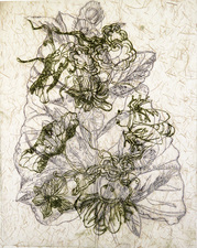 PAT CRESSON + Fine Art Work > Intaglio Prints Collograph and plexiglass etching on rice paper