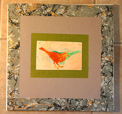 PAT CRESSON + Book Design/Handmade Books/Drawings/Paper Lithography gelatin monoprint and french marbled paper