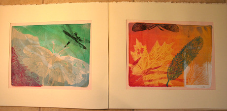 PAT CRESSON + Book Design/Handmade Books/Drawings/Paper Lithography gelatin monoprint in accordian construction