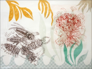 PAT CRESSON + Fine Art Work > Intaglio Prints Intaglio, digital image and drypoint