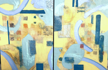 PAT CRESSON +  Recent Work > Oil/Wax Painting on Wood Panels oil, wax and mixed medium on wood panel