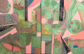 PAT CRESSON +  Recent Work > Oil/Wax Painting on Wood Panels oil/cold wax and collage on wood panels