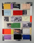 Patricia Dahlman Drawings fabric, thread, archival photo copies on paper
