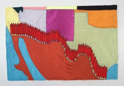 Patricia Dahlman Recent Work fabric, thread on paper