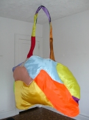 Patricia Dahlman Sculptures canvas, cloth, stuffing, wire