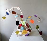 Patricia Dahlman Sculptures canvas, wire, cloth, thread