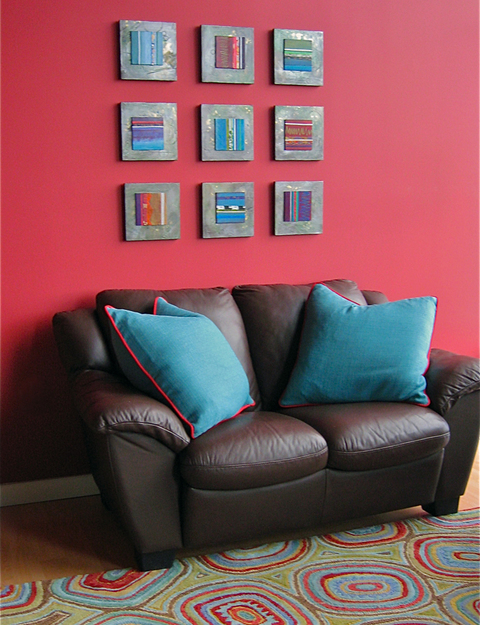 Contemporary/modern abstract art paintings by Patricia Forbes Installed Art