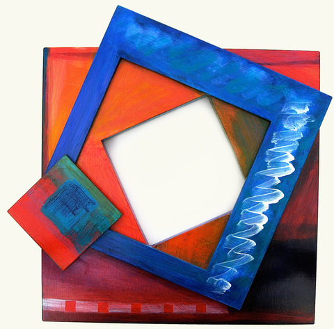 Contemporary/modern abstract art paintings by Patricia Forbes Tumbling Squares Acrylic on Panel
