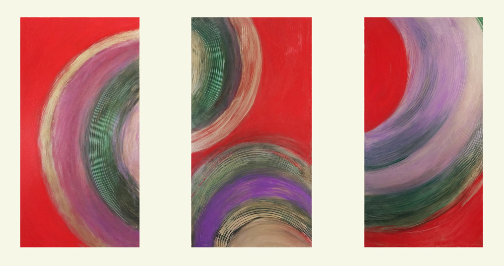 Contemporary/modern abstract art paintings by Patricia Forbes Diptychs and Triptychs Acrylic on Panel