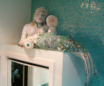 Patricia Rockwood Mosaics: Selected Corporate & Private Commissions Glass and ceramic tile, glass gems, shells, perals, beads, found objects, on sculpted form