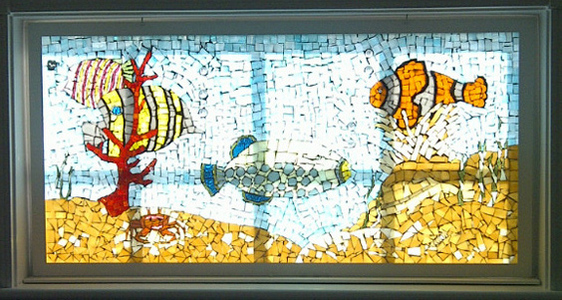Patricia Rockwood Mosaics: Selected Corporate & Private Commissions Stained glass, on glass