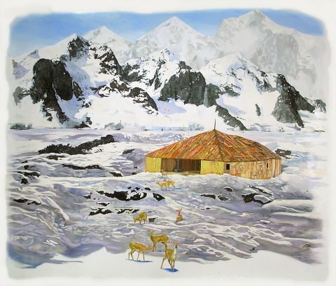 Patte Loper Antarctica acrylic and oil on paper