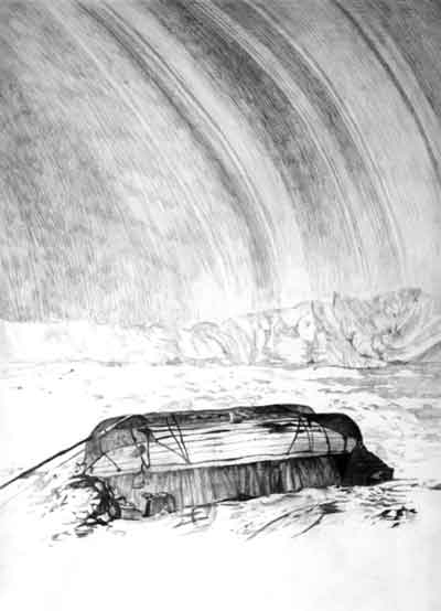 Patte Loper Antarctica graphite on paper