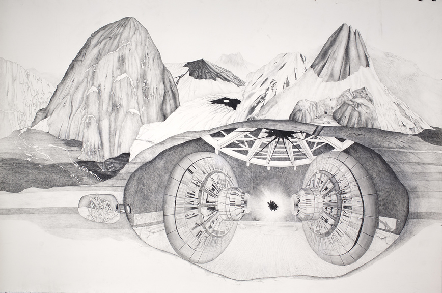Patte Loper Antarctica graphite and acrylic on paper