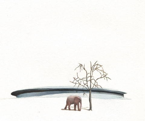 Patte Loper When Animals Build oil on paper