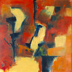 Paul Kline  Painting Oil and cold wax on canvas