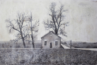 Perspective Group and Photography Gallery Katsy Johnson archival pigment print, encaustic and oil