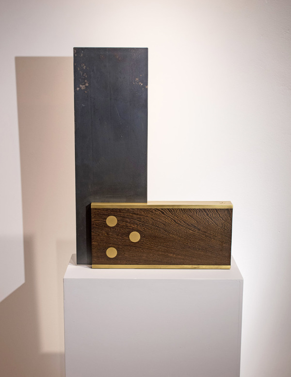 Peter Kirkiles  Sculpture  Brass, steel, wenge