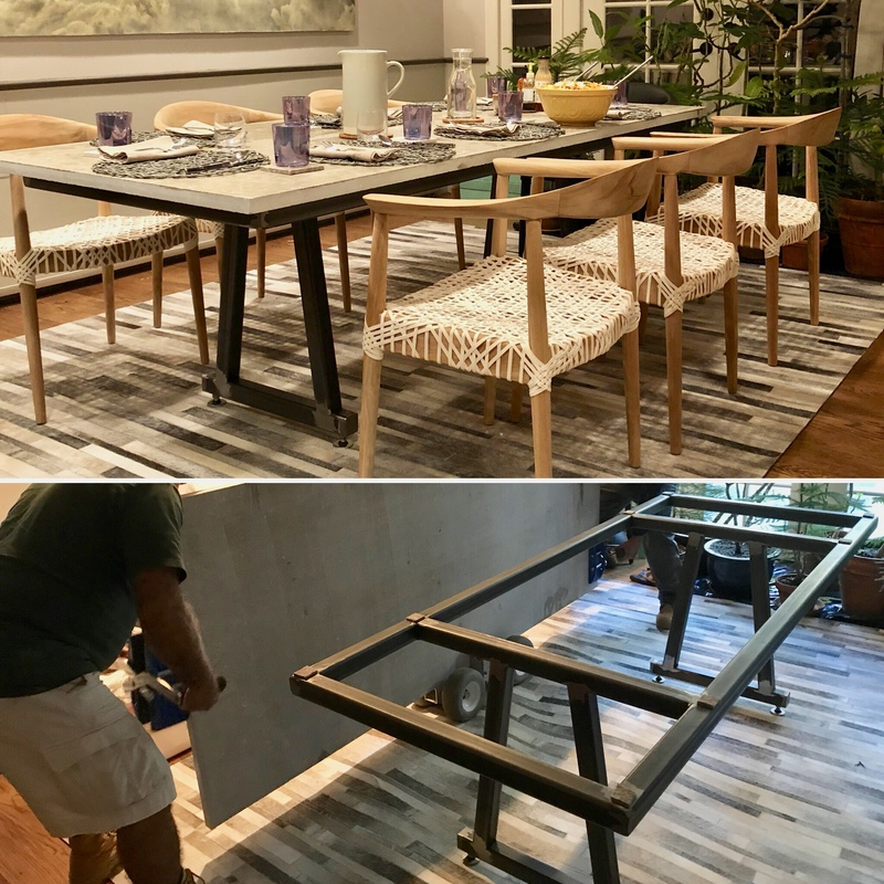 Design & Fabrication Dining table base for limestone top