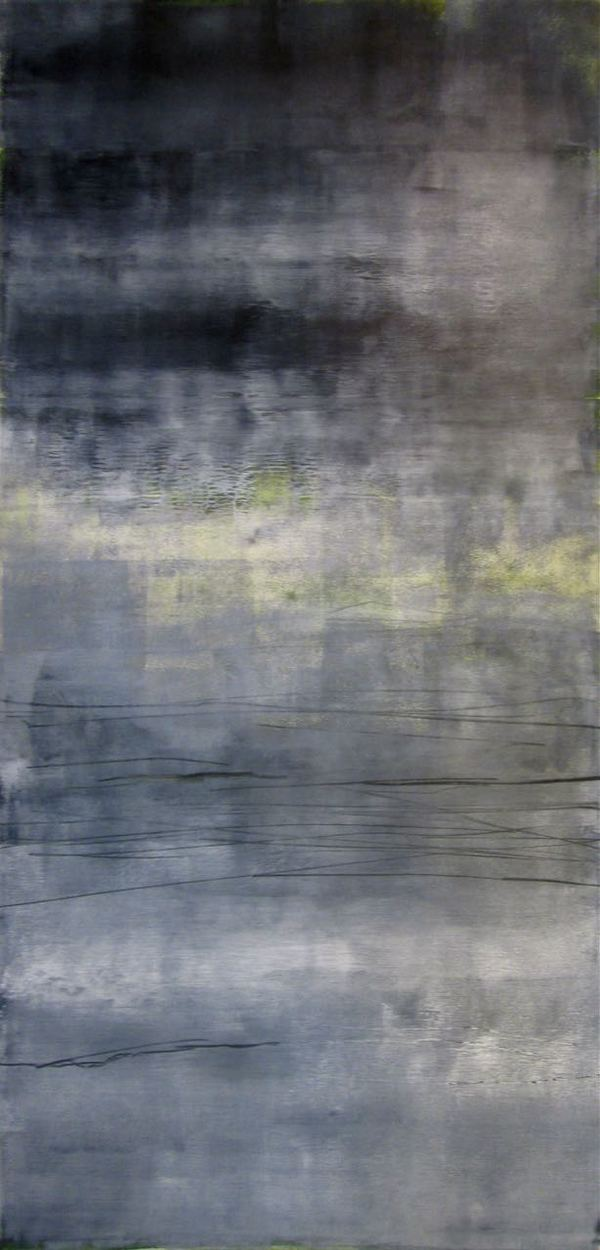 Peter Roux abstraction oil, charcoal on paper