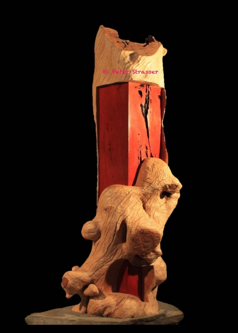 Large Wooden Sculptures Big Red