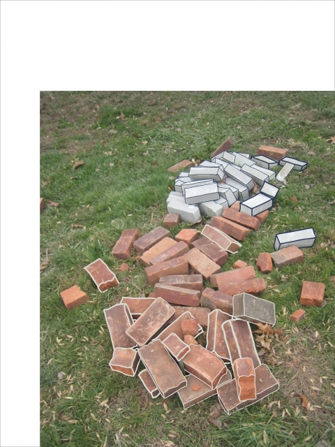 Drawing ideas for sculpture Assorted Bricks: Red & White